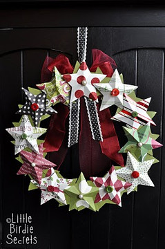 3d_paper_star_wreath_how_to_make