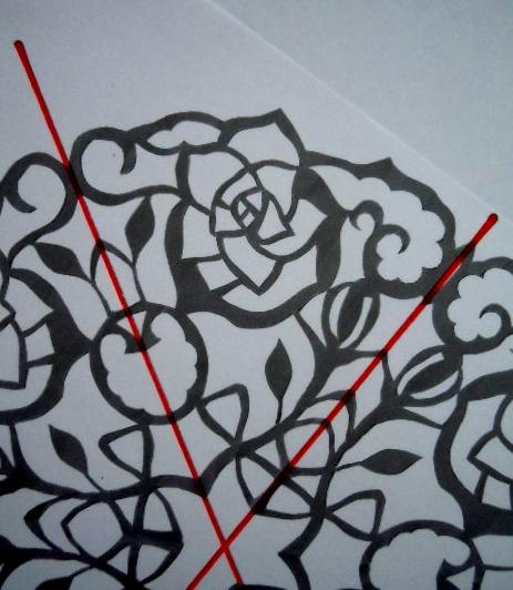 すべての折り紙 折り紙で切り絵 : 切り絵の図案: すきなこと ...